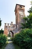 Clock tower of Bazzano Italy royalty free stock photography