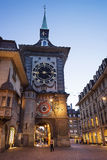Clock tower in Bern city center royalty free stock photography