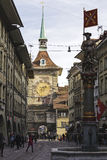 The Clock Tower in Bern, Switzerland Stock Images