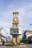The clock tower of Betong, Thailand. Royalty Free Stock Image