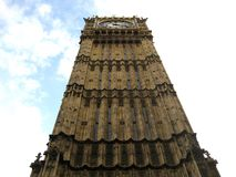 Clock tower. Big Ben in London Royalty Free Stock Photos