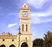 Clock tower. A big clock tower in kurdistan, hawler royalty free stock images