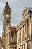 Clock tower on Birmingham museum Royalty Free Stock Photos