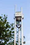 Clock tower. On blue sky background Royalty Free Stock Image