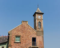 Clock tower with blue sky Kingsand Cornwall Stock Image