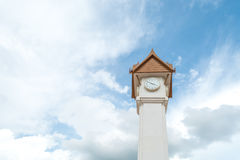 Clock tower with blue sky Royalty Free Stock Photography