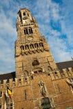 Clock tower in Brugge, Belgium Royalty Free Stock Images
