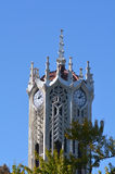 The clock tower building of Auckland University Stock Photo