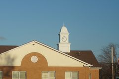 Clock tower on building royalty free stock image