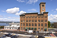 Clock tower building Tacoma Washington. Stock Images