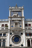 Clock tower building, Venice. Royalty Free Stock Photos