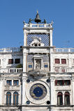 Clock tower building, Venice. Royalty Free Stock Images