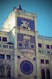 Clock Tower called Mori di Venezia in Venice in Italy Stock Photo