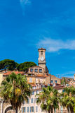Clock Tower in Cannes France Stock Image