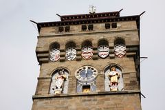 Clock Tower of Cardiff  Castle Stock Images