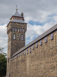 The clock tower of Cardiff Castle, Wales Royalty Free Stock Photos