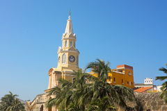 The Clock Tower. Cartagena de Indias, Colombia royalty free stock photography