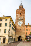 Clock Tower in Castelfranco Veneto Royalty Free Stock Photography