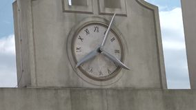 Clock on the tower of Castle sant'elmo. In naples stock video