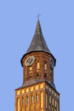 Clock tower of Catholic Church Stock Photos