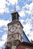 Clock tower in chambery Royalty Free Stock Photo