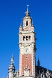 Clock Tower at the Chambre de commerce in Lille, France Royalty Free Stock Photography