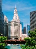 Clock Tower In Chicago Stock Photography