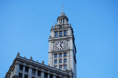 Clock Tower in Chicago Illinois Royalty Free Stock Image