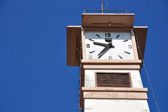 Clock tower. At Chonburi Thailand Stock Photo