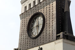 Clock tower of church of the Sacred Heart Royalty Free Stock Photography
