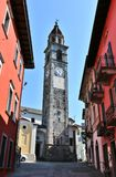 Clock tower in ascona. Clock tower in the city of ascona stock photo