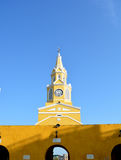 Clock tower city Cartagena Colombia Stock Photography