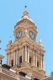 Clock tower of City Hall in Cape Town, South Africa Stock Images