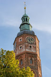 Clock tower of a city hall. Stock Image