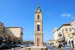 Clock Tower in the city of Jaffa Royalty Free Stock Photos