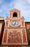 Clock Tower in city Loano, Liguria Stock Images