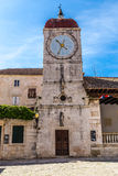 The Clock Tower and City Loggia - Trogir, Croatia Royalty Free Stock Photos