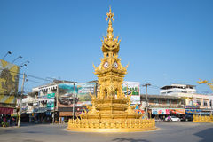 The clock tower on the city square in Chiang Rai. Thailand Royalty Free Stock Photo