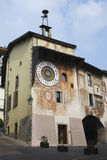 Clock Tower in Clusone Stock Photography