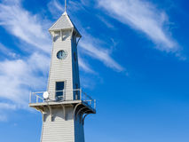 Clock tower. On Cunningham pier in Geelong, Victoria, Australia Royalty Free Stock Photos