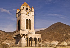 Clock Tower - Death Valley. This is a picture of the clock tower at Scotty's Castle in Death Valley National Park Royalty Free Stock Photography