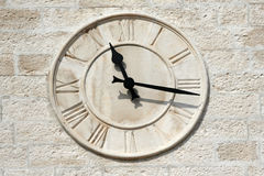 Clock tower detail Royalty Free Stock Photo