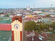 Clock tower in Diriamba town Royalty Free Stock Photography