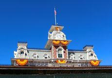 Clock tower at Disney's Magic Kingdom Stock Photography
