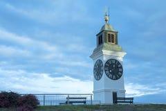 The Clock Tower, distinctive landmark of Petrovaradin fortress, Stock Photos
