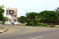 The clock tower, district Koggala Stock Photography