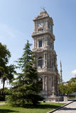 Clock Tower at Dolma Bahche Palace Royalty Free Stock Image