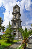 Clock Tower at Dolma Bahche Palace. Istanbul, Turkey Stock Images