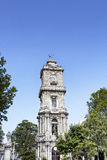 Clock tower of Dolmabahce Palace Stock Image