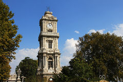 Clock tower in dolmabahce palace,Istanbul,Turkey Stock Photos